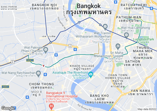 Map for Bangkok, Sathon