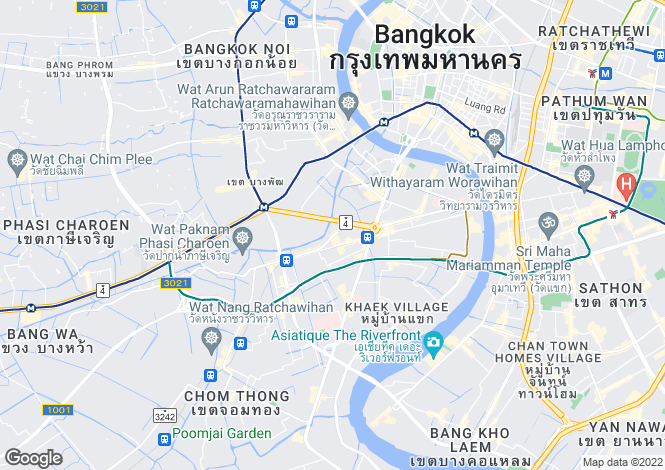 Map for Thon Buri, Bangkok