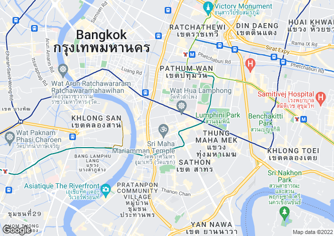 Map for Bangkok, Bang Rak