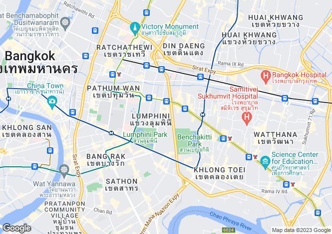 Map for Pathum Wan, Bangkok