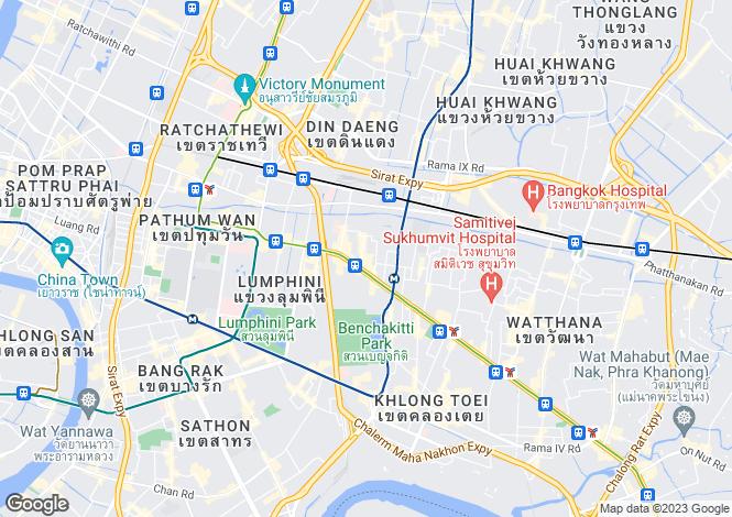 Map for Bangkok, Khlong Toei