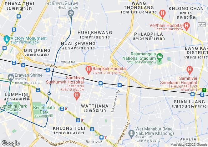 Map for Bang Kapi, Bangkok