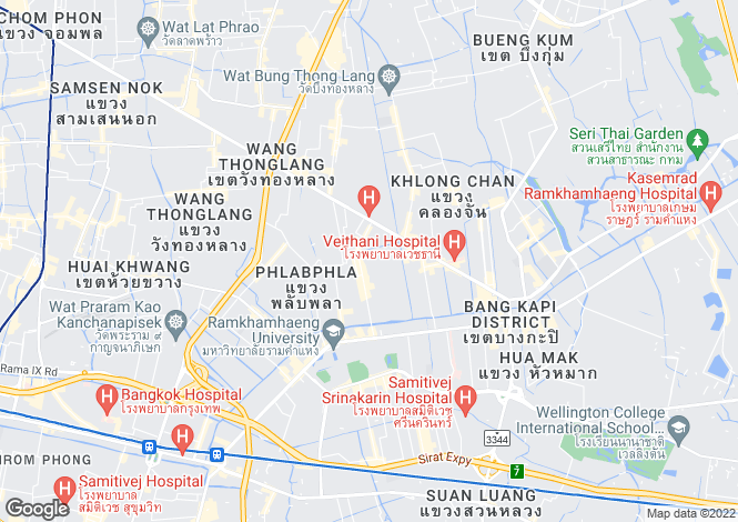 Map for Silom, Bangkok, Thailand