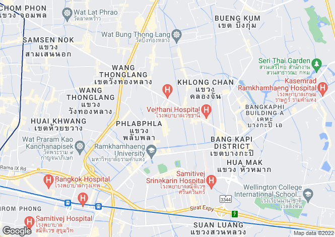 Map for Sathon, Bangkok