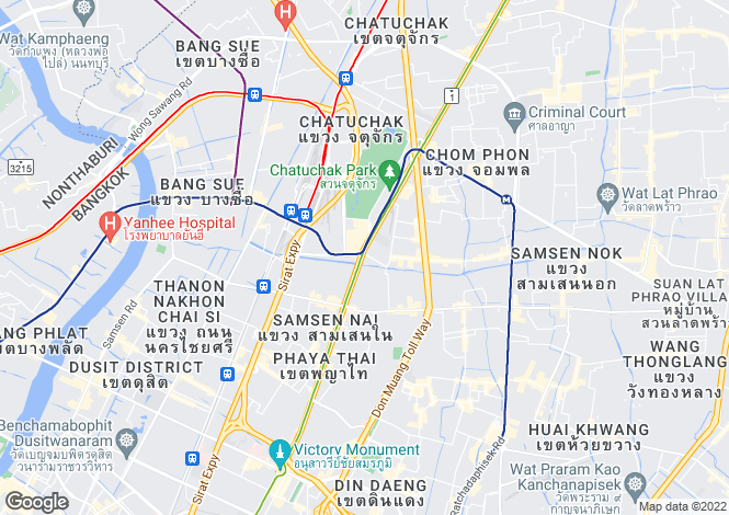 Map for Bangkok