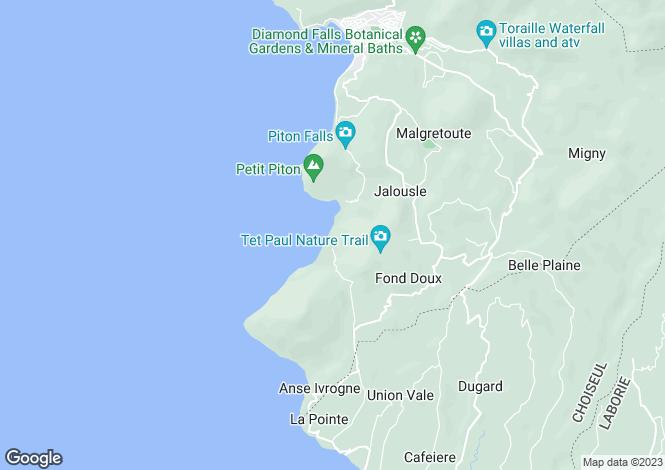 Map for La Belle Helene, Beau Estate, Soufriere, Saint Lucia