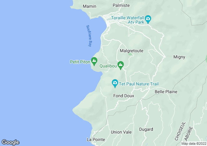 Map for Oceanview Residence, Sugar Beach Resort, Val Des Pitons, Soufriere