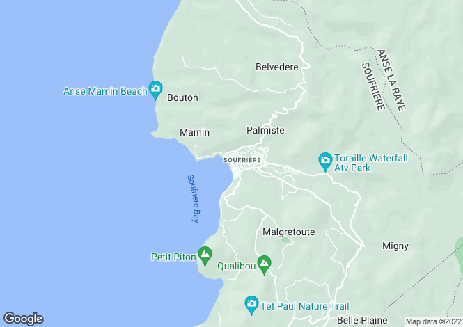 Map for Soufriere, St Lucia