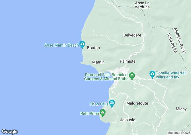 Map for Soufrière