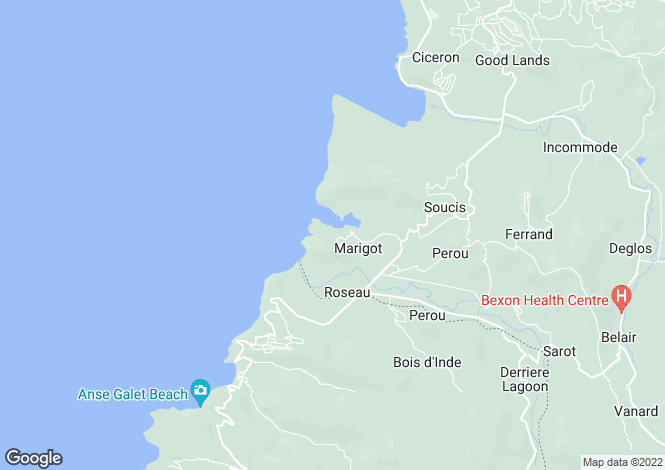 Map for Roundhouse Tropical Villa, Marigot Bay