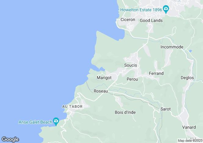 Map for Marigot Bay Marina Village Apartment 4E* - St.Lucia, Marigot Bay