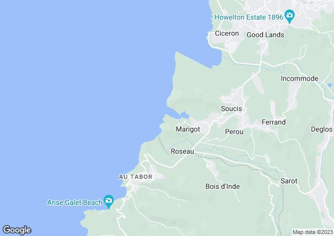 Map for Villa on the Bay, Marigot Bay - St.Lucia, Marigot Bay