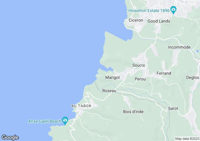Map for Bois Rouge Villa - St Lucia, Marigot Bay