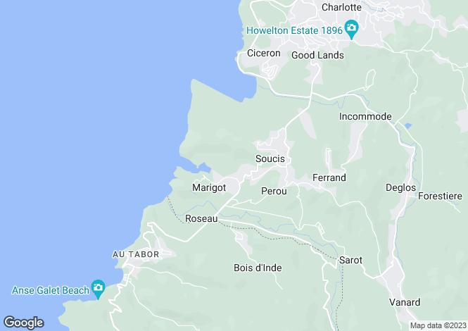 Map for Marigot Bay, Saint Lucia