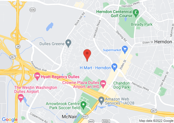 Map of 13351 Parcher Ave, Herndon, VA 20170, United States