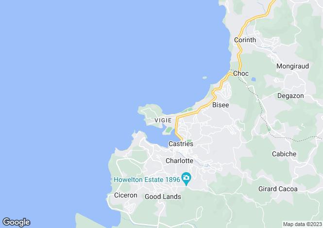 Map for Vigie Beach Land, Vigie Beach, Castries, St. Lucia