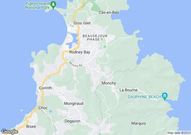 Map for Leela Plantation - St.Lucia, Bonne Terre