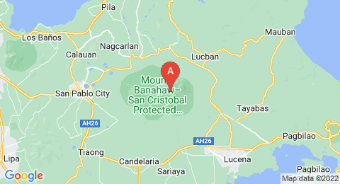 map of Mount Banahaw (Philippines)