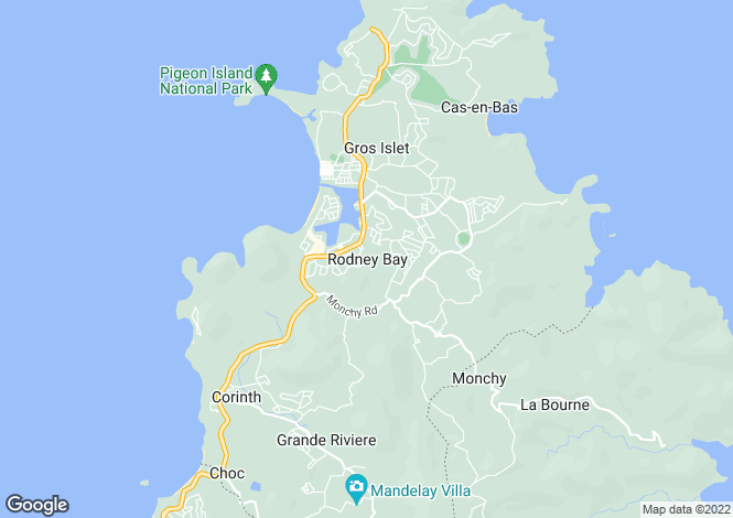 Map for 59, Rodney Heights - St.Lucia, Gros Islet