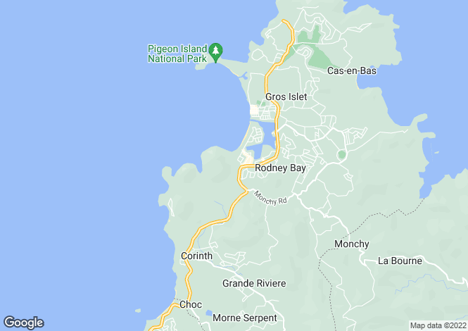 Map for Flambeau Villa - St.Lucia, Trouya Pointe