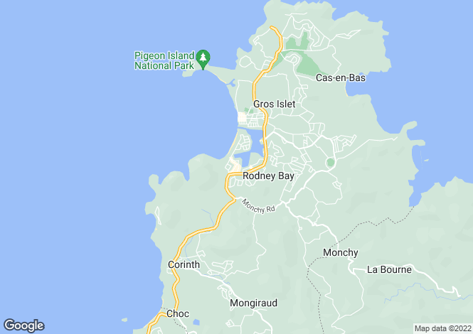 Map for 12, The Anchorage - St.Lucia, Rodney Bay