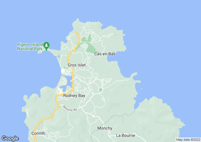 Map for Gros Islet