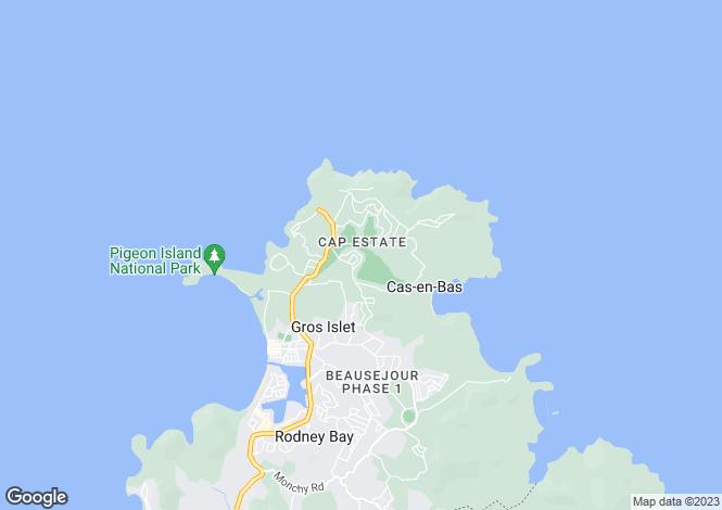 Map for Cap Estate, St Lucia