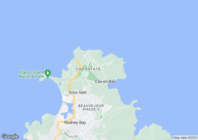 Map for Windward Road Villa - St.Lucia, Cap Estate