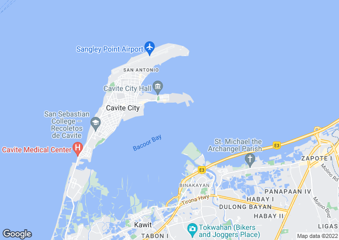 Map for Cavite, Tagaytay, Philippines