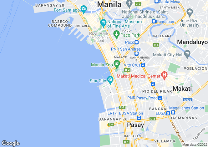 Map for Manila