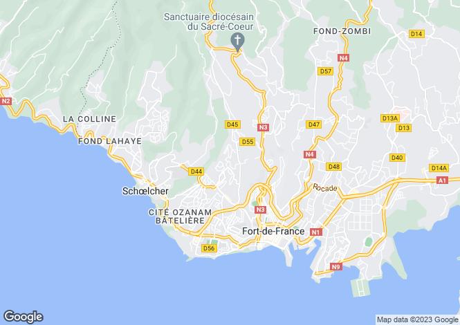 Map for Fort-de-France