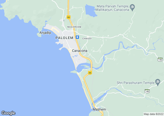 Map for Goa, South Goa, Canacona