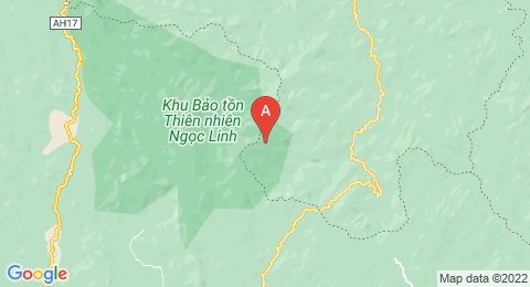map of Ngọc Linh (Vietnam)