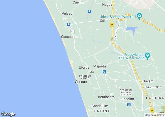 Map for Goa, South Goa, Majorda