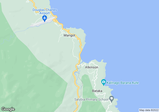 Map for Pagua Bay House  - Boutique Hotel Cabanans - Dominica, Dominica