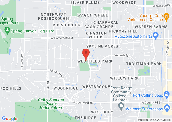 Map of 1515 Westfield Drive, Fort Collins, CO, United States