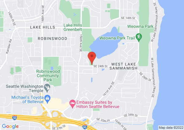 Map of 15810 SE 24th St, Bellevue, WA 98008, USA