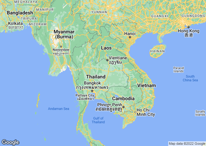 Map for Bangkok