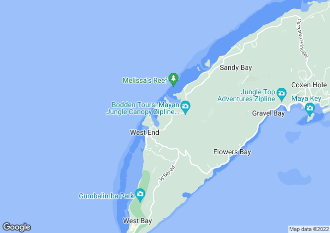 Map for Islas de la Bahía, Roatán