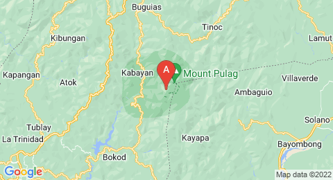 map of Mount Pulag (Philippines)
