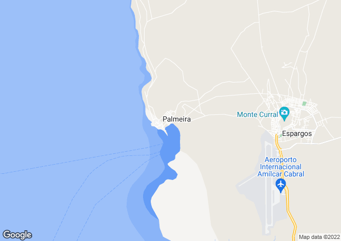 Map for Palmeira, Sal, Cape Verde