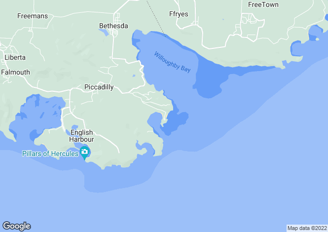 Map for English Harbour Town