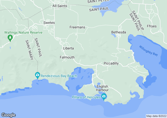 Map for Falmouth