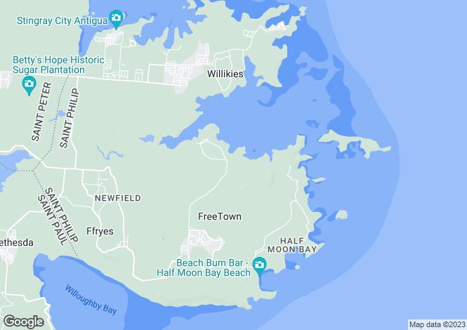 Map for St John`s