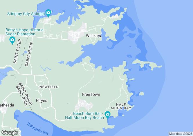 Map for Antigua and Barbuda
