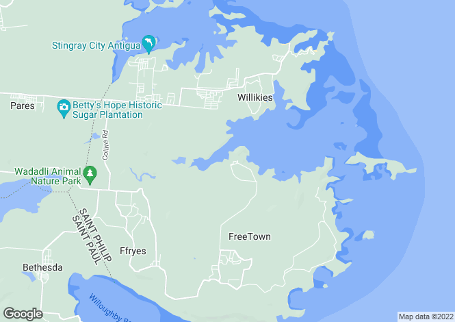 Map for Non-Such Bay