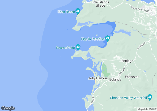 Map for Pearns Point, The Peninsula, Antigua