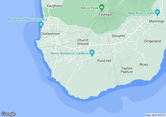 Map for Fig Tree House and Cottage, Montpelier Road, Montpelier Estate, Nevis