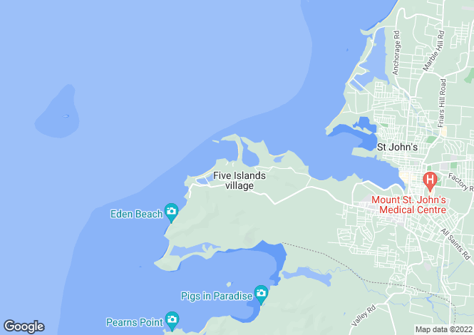 Map for Galley Bay Heights, Antigua and Barbuda