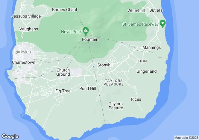 Map for Mountain Glory, Zetlands Estate, Nevis